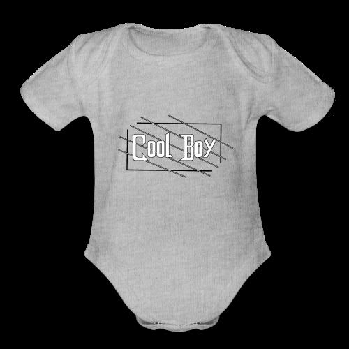 Cool Boy 01 - Organic Short Sleeve Baby Bodysuit
