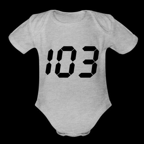 perfect 103 - Organic Short Sleeve Baby Bodysuit