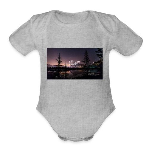 Fluffy's Designs - Organic Short Sleeve Baby Bodysuit