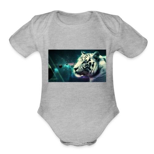 White_tiger - Organic Short Sleeve Baby Bodysuit