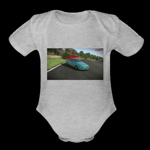 AE86 Drifting. - Organic Short Sleeve Baby Bodysuit