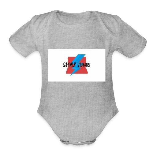 Simple Studios Prototype T-Shirt (White) - Organic Short Sleeve Baby Bodysuit