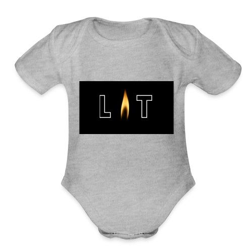 LIT LOGO DESIGN - Organic Short Sleeve Baby Bodysuit