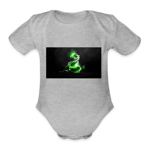 RUBIEX12 LOGO - Organic Short Sleeve Baby Bodysuit