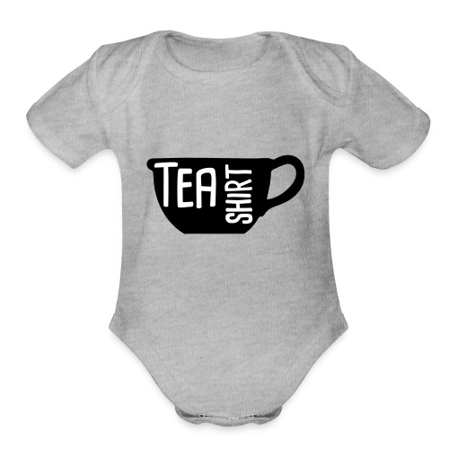 Tea Shirt Black Magic - Organic Short Sleeve Baby Bodysuit