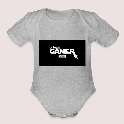 GAMER - Organic Short Sleeve Baby Bodysuit
