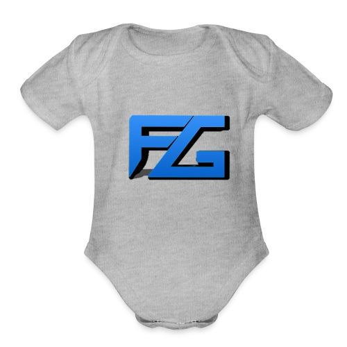Freeze Gaming Logo - Organic Short Sleeve Baby Bodysuit