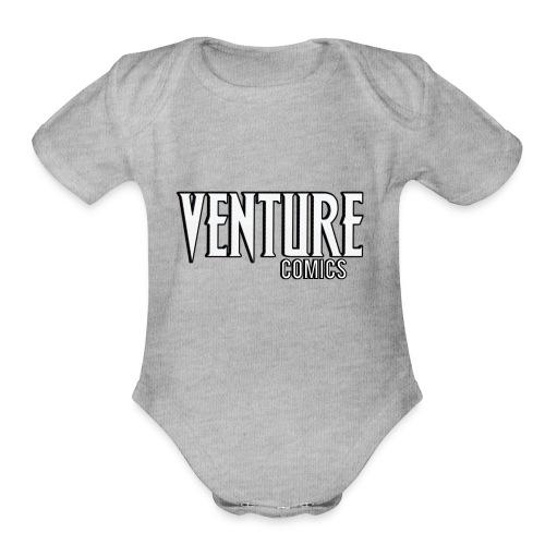 Venture Comics Logo - Organic Short Sleeve Baby Bodysuit