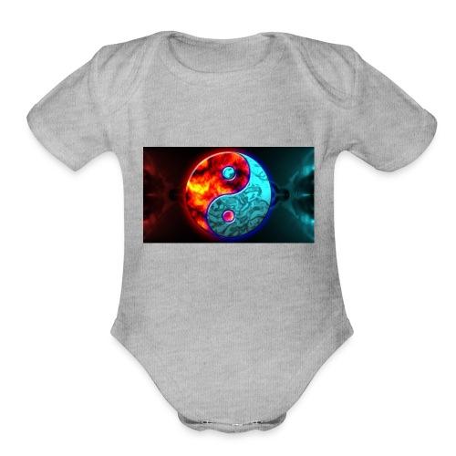 YIN N YANG - Organic Short Sleeve Baby Bodysuit