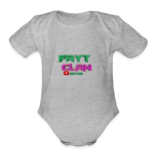 Fayt Clan Logo - Organic Short Sleeve Baby Bodysuit