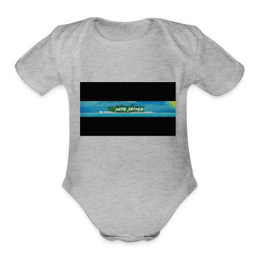 sethsnipes - Organic Short Sleeve Baby Bodysuit