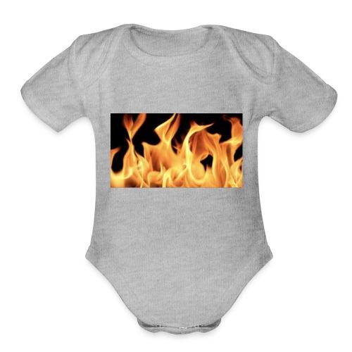 Flamin Ground - Organic Short Sleeve Baby Bodysuit