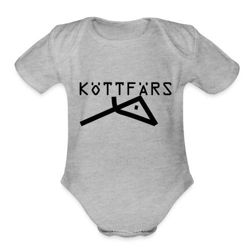 Köttfärs Black - Organic Short Sleeve Baby Bodysuit