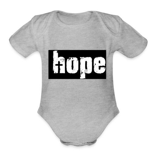 1-Hope - Organic Short Sleeve Baby Bodysuit