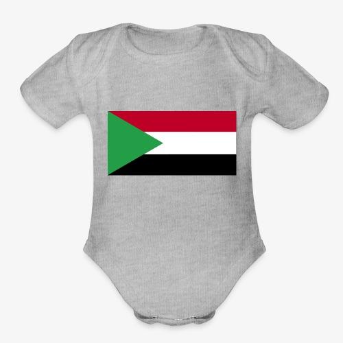 Sudan flag - Organic Short Sleeve Baby Bodysuit