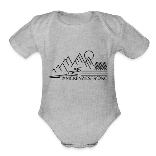 McKenzie Strong - Organic Short Sleeve Baby Bodysuit