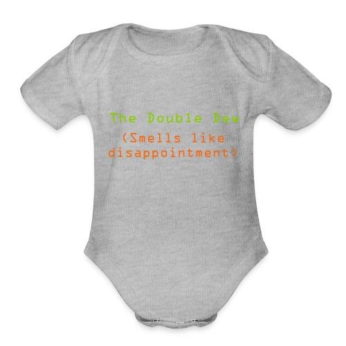 The Double Dew - Organic Short Sleeve Baby Bodysuit
