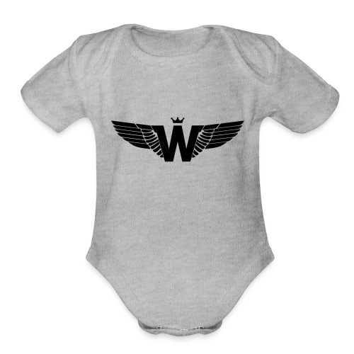 Wade Clothing Logo - Organic Short Sleeve Baby Bodysuit
