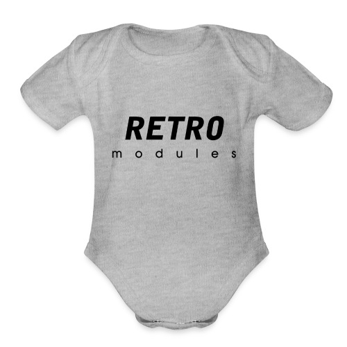 Retro Modules - sans frame - Organic Short Sleeve Baby Bodysuit
