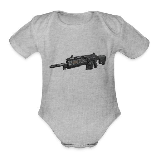 wildflor5561's main gun - Organic Short Sleeve Baby Bodysuit
