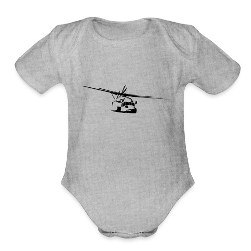 H-53 Sea Stallion Helicopter - Organic Short Sleeve Baby Bodysuit