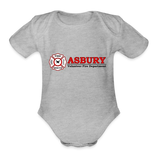 AsburyVFD Logo - Organic Short Sleeve Baby Bodysuit