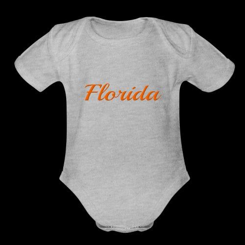 Florida - Organic Short Sleeve Baby Bodysuit