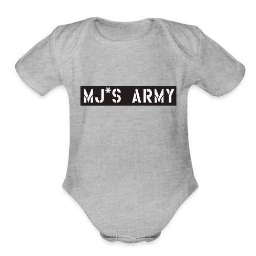 Mjs Army - Organic Short Sleeve Baby Bodysuit