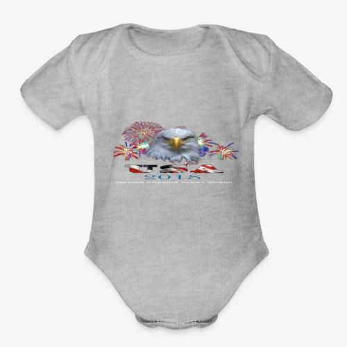 USA EAGLE 2018 - Organic Short Sleeve Baby Bodysuit