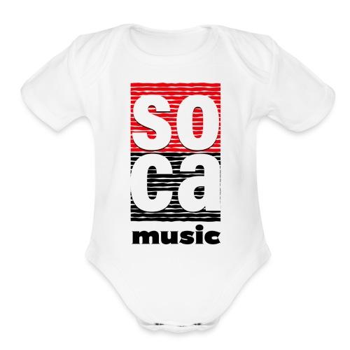 Soca music - Organic Short Sleeve Baby Bodysuit