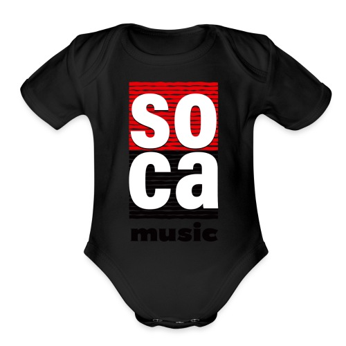 Soca music - Organic Short Sleeve Baby Bodysuit