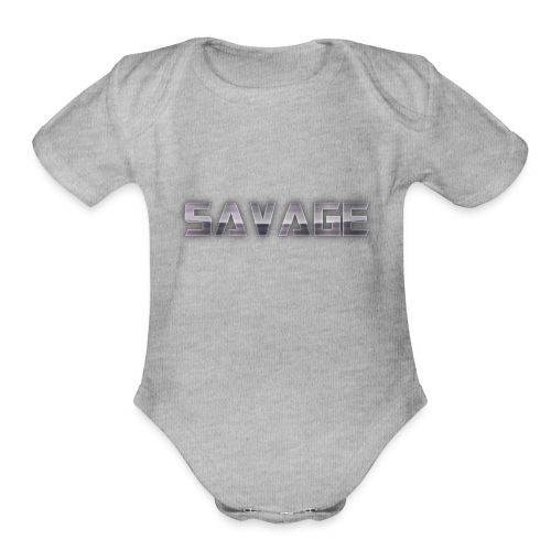 BE A SAVAGE - Organic Short Sleeve Baby Bodysuit