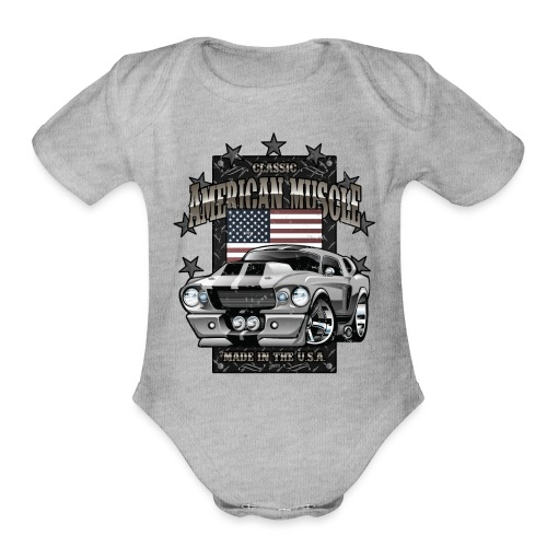 Classic American Muscle Car - Organic Short Sleeve Baby Bodysuit