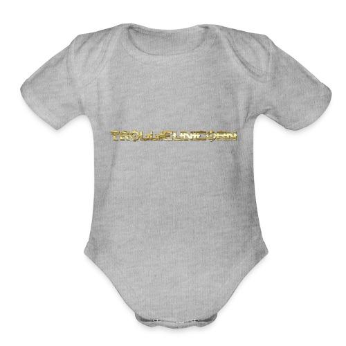 TROLLIEUNICORN gold text limited edition - Organic Short Sleeve Baby Bodysuit