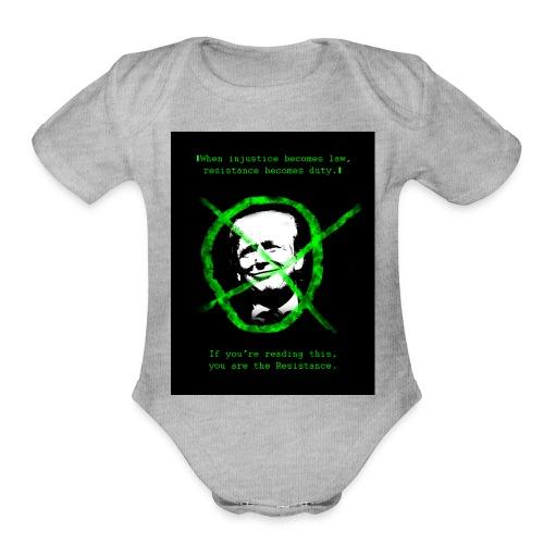 Anti Donald Trump Resistance Election 2016 T-shirt - Organic Short Sleeve Baby Bodysuit