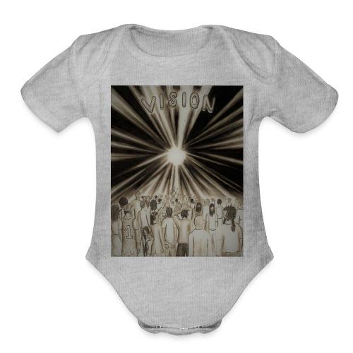 Black_and_White_Vision2 - Organic Short Sleeve Baby Bodysuit