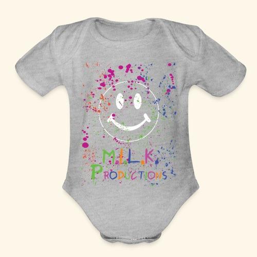 M.I.L.K. Color Splatter T-Shirt - Organic Short Sleeve Baby Bodysuit