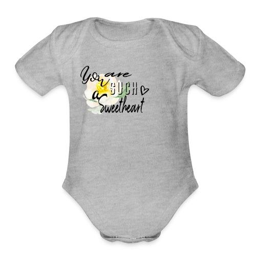 sweetheart - Organic Short Sleeve Baby Bodysuit
