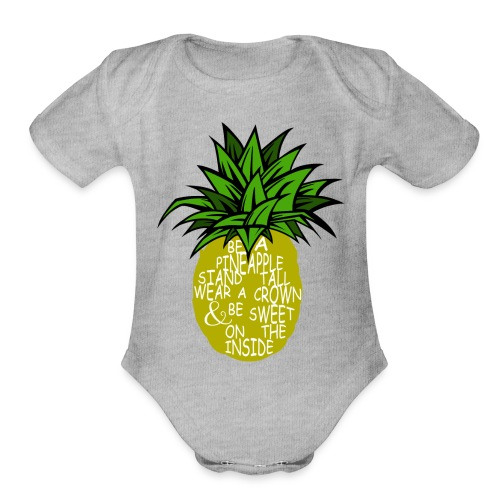 PineappleVer2 - Organic Short Sleeve Baby Bodysuit