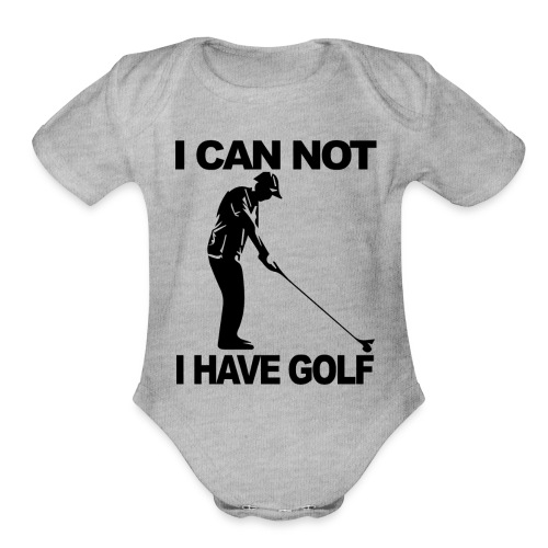 Golf Design - Organic Short Sleeve Baby Bodysuit