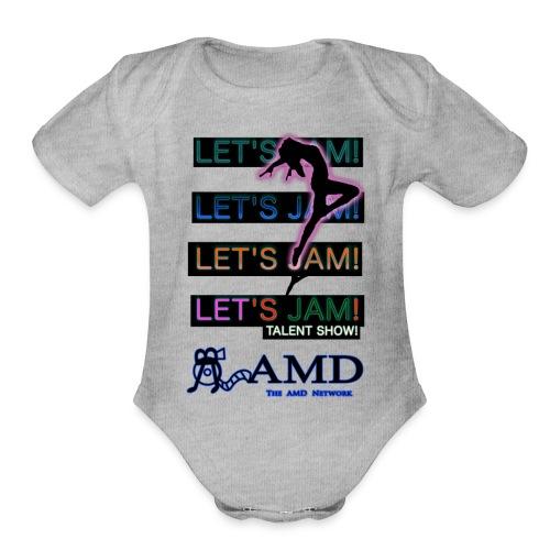 Let's Jam! Talent Show! - Organic Short Sleeve Baby Bodysuit