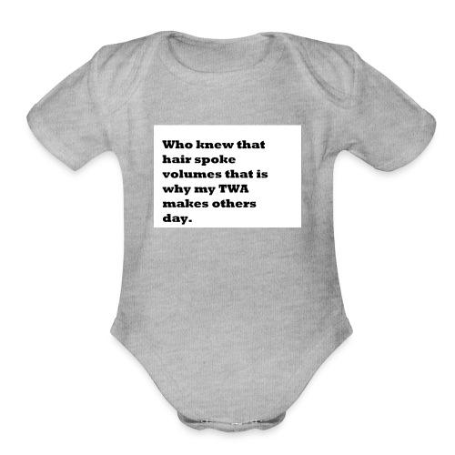 1 TWA TWA - Organic Short Sleeve Baby Bodysuit