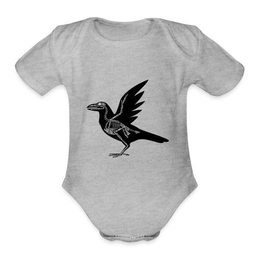 Skeleton Raven - Organic Short Sleeve Baby Bodysuit