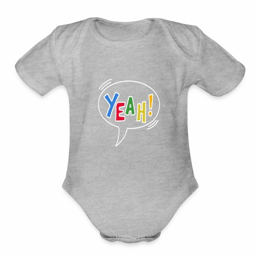 yeah - Beautiful and modest design - Organic Short Sleeve Baby Bodysuit