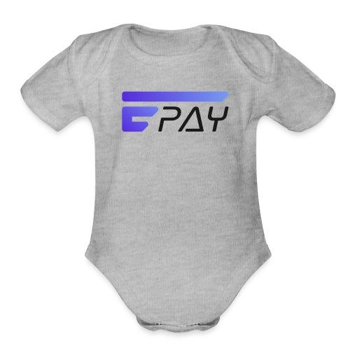 EUNOPAY LOGO BLACK FONT - Organic Short Sleeve Baby Bodysuit