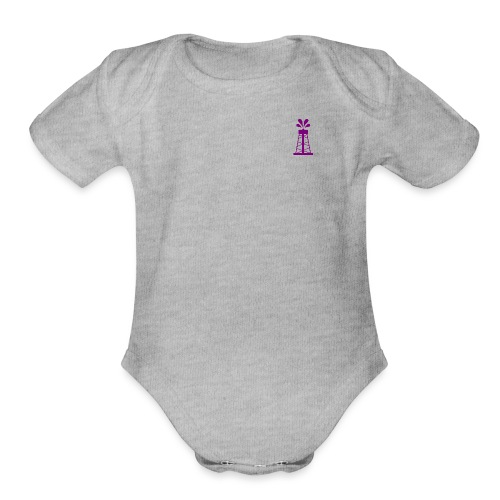 Oil Derrick - Organic Short Sleeve Baby Bodysuit