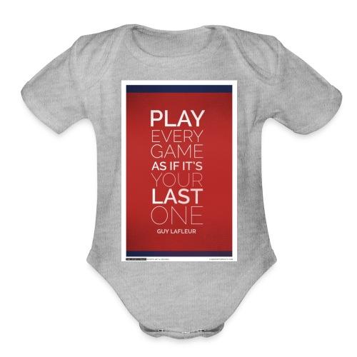 guylafleur - Organic Short Sleeve Baby Bodysuit