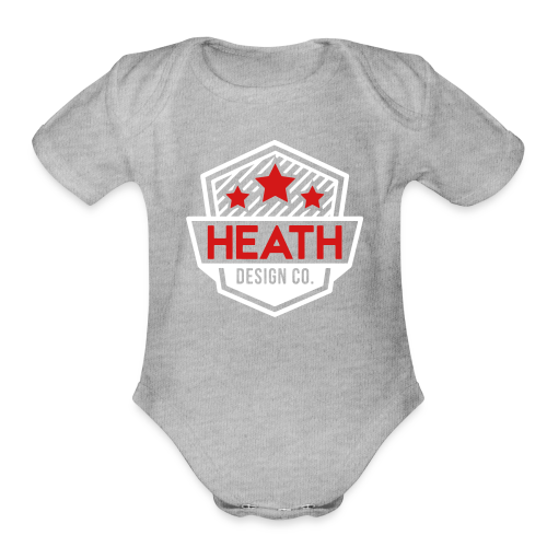 Red and White Logo - Organic Short Sleeve Baby Bodysuit