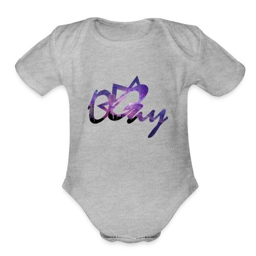 Night Sky City - Organic Short Sleeve Baby Bodysuit