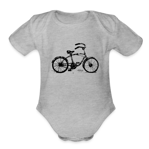 bike - Organic Short Sleeve Baby Bodysuit